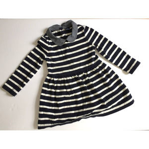 Gap Navy Blue White Striped Long Sleeve Dress 2yr